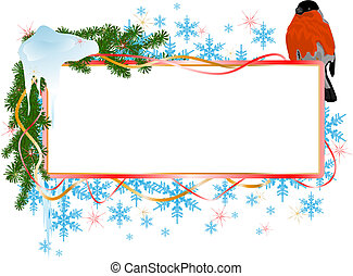 christmas banner with bird