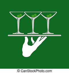 Waiter Hands With Tray