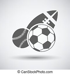 Sport Balls Icon - Sport balls icon over grey background....