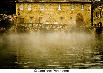 tuscany,Termal village - Thermal village,at nigthBagno...