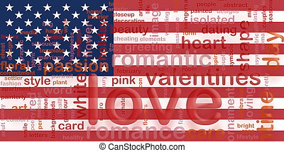 Flag of United States of America love