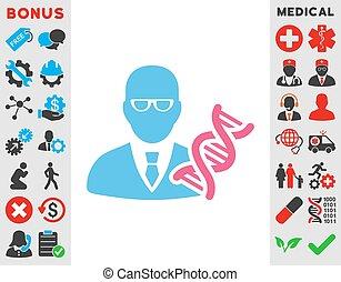 Genetic Engineer Icon - Genetic Engineer vector icon Style...