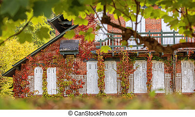 Old traditional french house - Autumn shot of old house in...