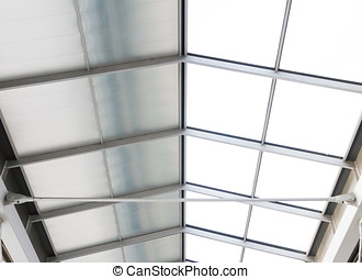Roof of a contemporary building.
