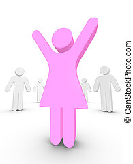 Stand Out From The Crowd - Colored People Stand Out From The...