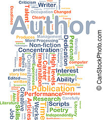Author background concept - Background concept wordcloud...