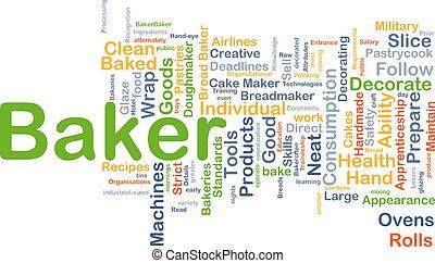 Baker background concept