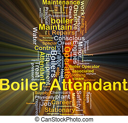 Boiler attendant background concept glowing - Background...