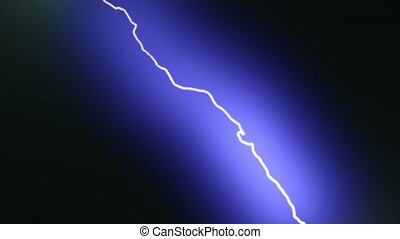 Blue lightning - electric discharge in the night