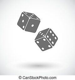 Craps icon - Craps. Single flat icon on white background....
