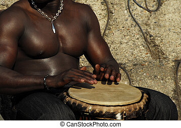 percussion - muscular African percussion sounds