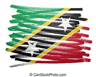Flag illustration - Saint Kitts and Nevis - Flag...