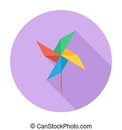Whirligig icon Flat vector related icon with long shadow for...