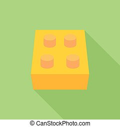 Building block icon. Flat vector related icon with long...