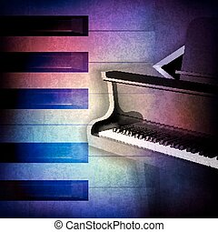 abstract grunge background with piano - abstract grunge...