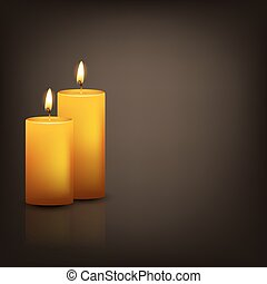 Vector background with two candles