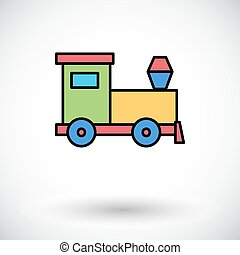 Train toy icon Flat vector related icon for web and mobile...