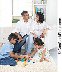 happy indian family