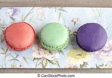 Parisian Macarons tradcional biscuit filled with cream