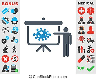Bacteria Lecture Icon - Bacteria Lecture vector icon Style...