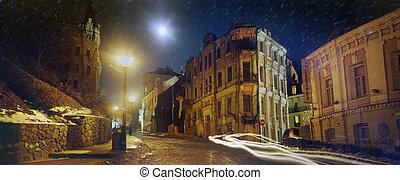 famous St Andrews descent - Kiev, Ukraine - December 9,...