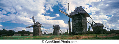 Wooden wind mill - The exposition museum of beautiful...
