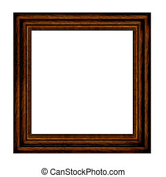 wood Picture Frame with mount