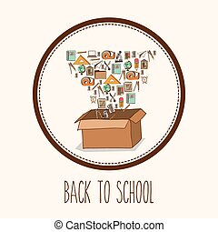 Back to school design - Eduaction concept with back to...