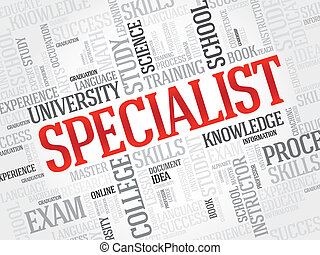 Specialist - SPECIALIST word cloud, education business...