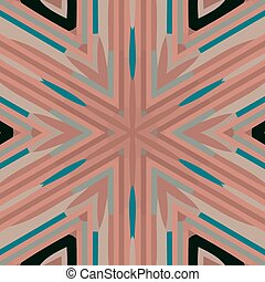 Abstract colorful background - Flat ethnic seamless pattern....