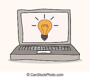 Idea design - Idea concept with light bulb icon design,...