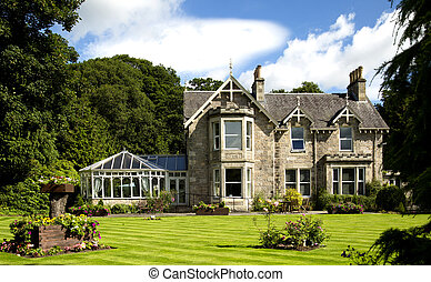 The Victorian Scots Baronial architecture of many of...