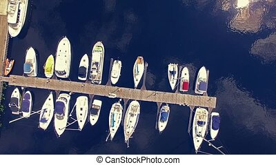 HD - Yachts. Aerial view