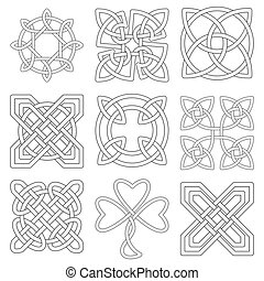 Collection of Celtic knots for use in your creative projects