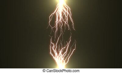 Electric discharge - Blue lightning - electric discharge in...