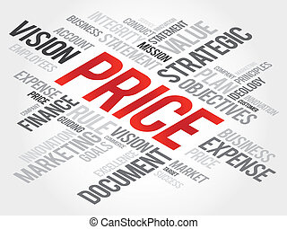 Price - PRICE word cloud, business concept