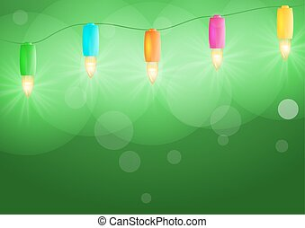 christmas lights - shining colorful christmas lights on...
