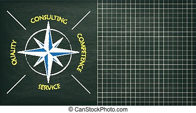 Blackboard Consulting Compass Copyspace - Compass with text...