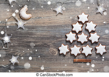 Christmas cookies - Christmas background with gingerbread...