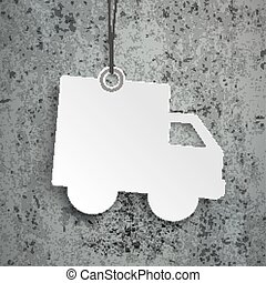Shipping Paper Car Price Sticker Concrete - Price sticker on...