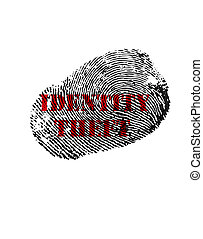 Identity Theft print - Isolated fingerprint with Identity...