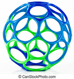 Colorful Geometric Curved Circle Toy Shaped Ball