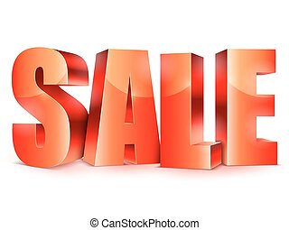 Big Sale Word - Big red sale word on white background