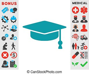 Graduation Cap Icon - Graduation Cap vector icon Style is...