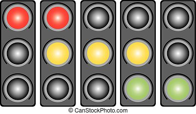 Traffic light with a light