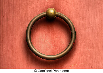 Chinese door knob - Chinese traditional circle bronze door...