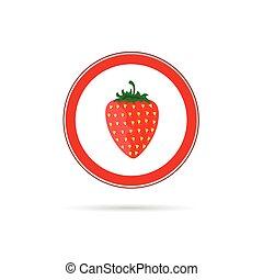 fresa,  vector, rojo, señal