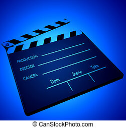 Film clapper in color light