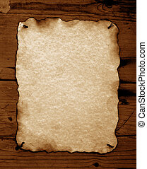 Burned Old paper - Old paper with burned edges for...