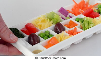 Fresh vegetables in tray - Fresh vegetables served in small...